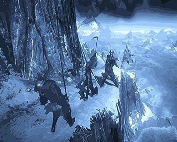 ttymei Pintar por números The Witcher 3 DIY Pintar por números ...
