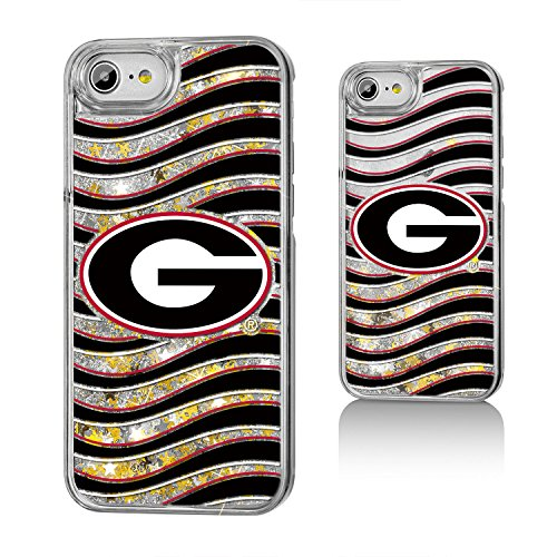 Georgia Bulldogs Gold Glitter Case for the iPhone 6 / 6S / 7 / 8 (Gold Georgia Bulldogs Football)