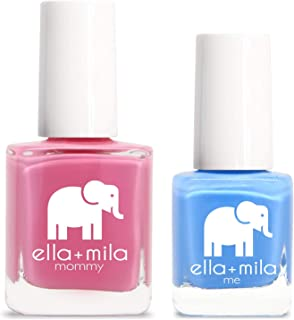 product image for ella+mila Nail Polish, mommy&me set - Rosy Cheeks + My Pool Party
