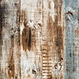 197'x17.8' Wood Peel and Stick Wallpaper Self-Adhesive Removable Wall Covering Decorative Vintage Wood Panel Faux Distressed Wood Plank Wooden Grain Film Vinyl Decal Roll