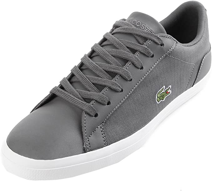 lacoste grey lerond trainers - 51% OFF