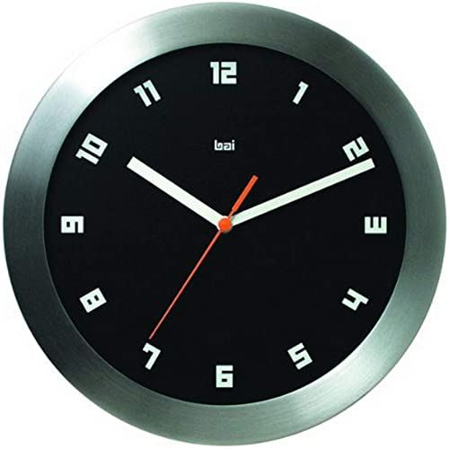 BAI Brushed Aluminum Wall Clock