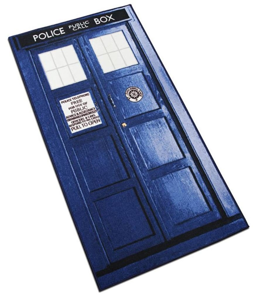 amazon com doctor who xl rectangle tardis rug 6ft kitchen dining