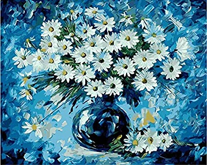 Wooden Framed Rihe DIY Oil Painting Paint By Numbers Kits with Brushes Acrylics Painting Kits on Canvas for Adults Kids Beginner Abstract Tree 16x20 Inch