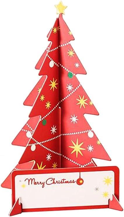 deylaying 3 Pack luminoso juego de tarjetas de Navidad 3d tarjeta de felicitación para Navidad, fiesta, cumpleaños, gracias, aniversario # P-12: Amazon.es: Oficina y papelería