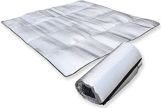 Aluminio Camping – Colchoneta 12shage Resistente al Agua Alfombrilla Aislante Tienda Suelo Esterilla