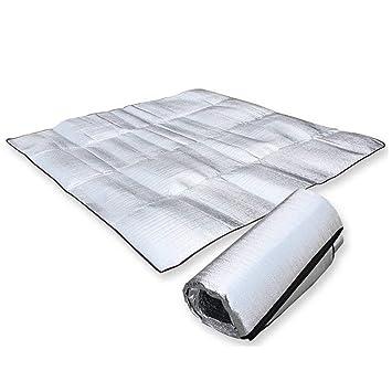 esterilla de aluminio 200 x 250 cm Aehma Esterilla aislante de aluminio para camping ultraligera esterilla de suelo t/érmica esterilla aislante plegable