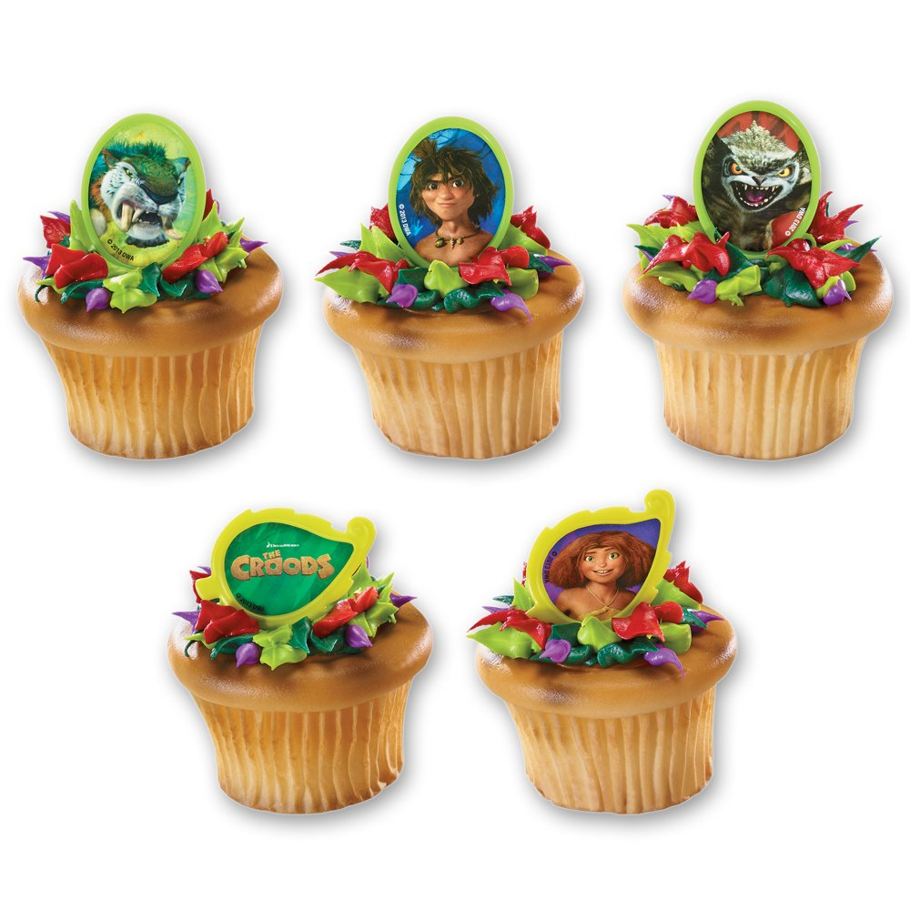 Amazon Decopac The Croods Eep Guy And Creatures Cupcake Rings