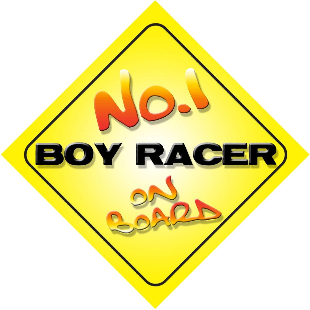 No.1 Boy Racer on Board Novelty Car Sign New Job//Promotion//Novelty Gift//Present