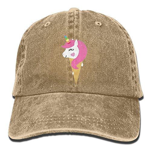 Skull Ice Cream - Doormat bags Vintage Unicorn Icecream Printed Jeans Cap Adjustable Hat Unisex Baseball Caps Natural