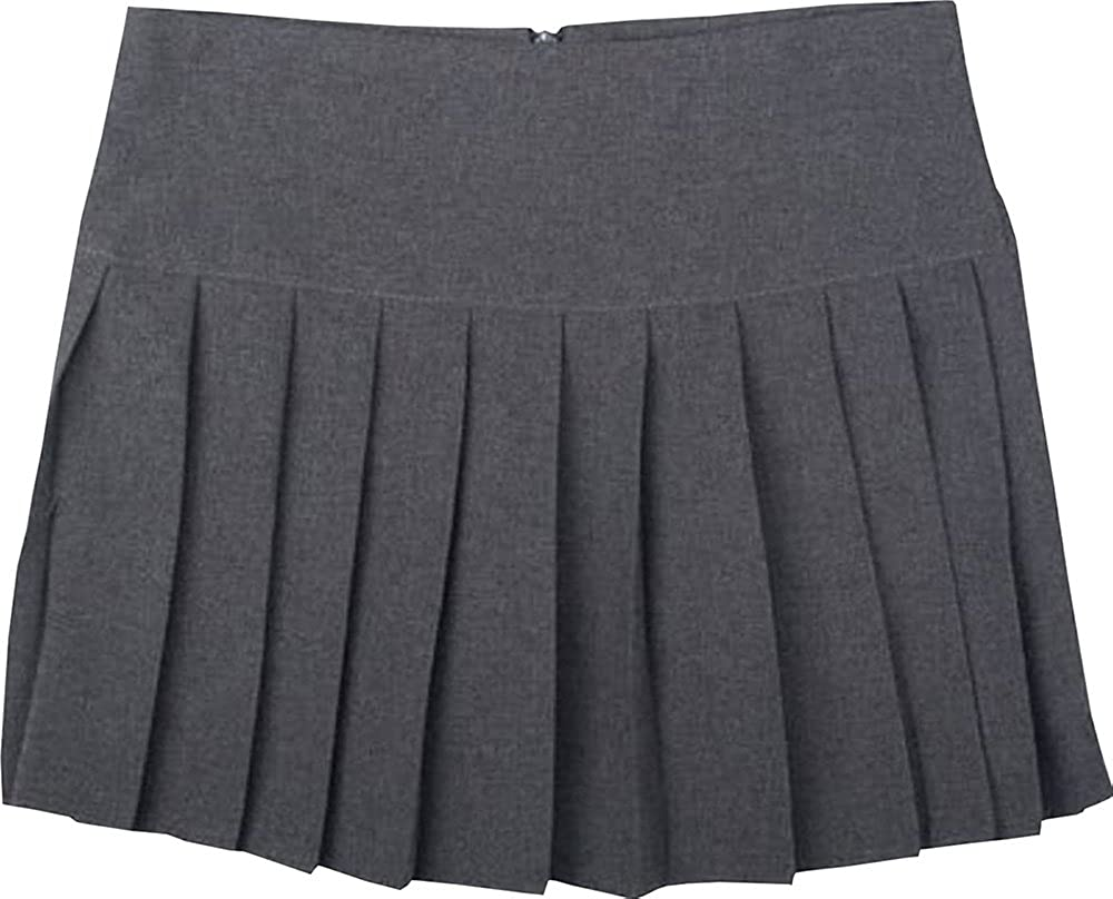 Onlyglobal Britney Spears High Waist Short Skirts with Zip Back Pleat Girls /& Ladies Size