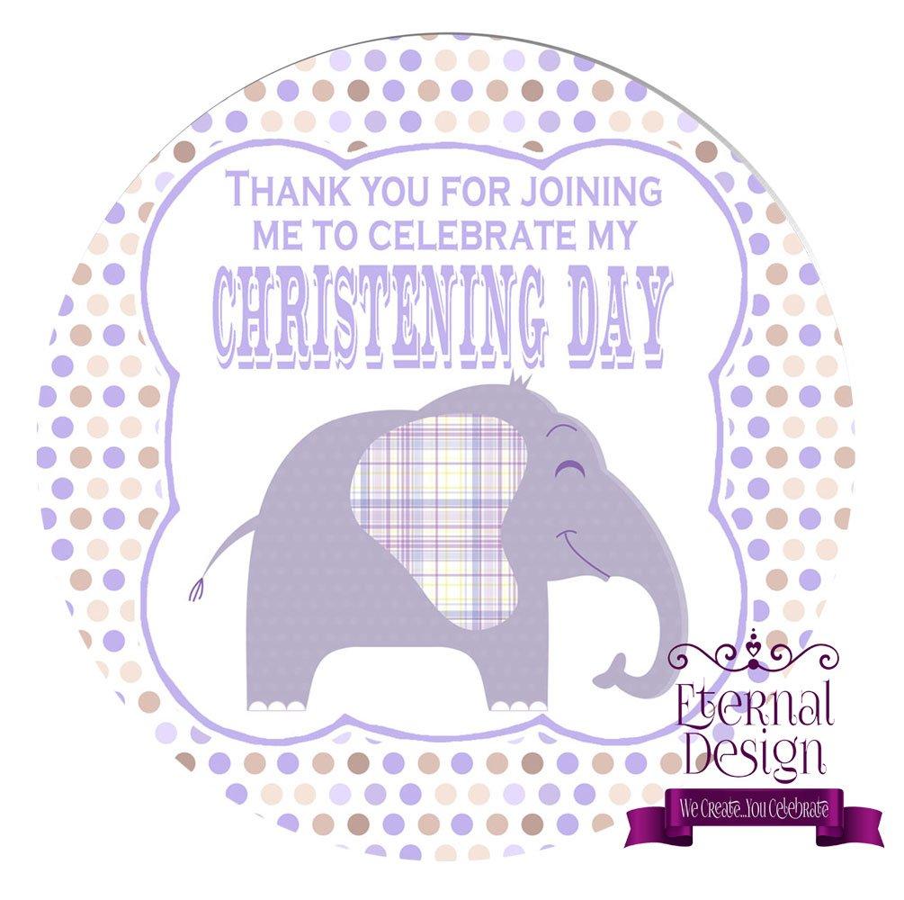 Eternal Design 48 x 30mm Christening Day White Stickers CDCS 4