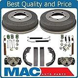 Rear Brake Drums Shoes Spring Kit Wheel Cylinder For 95-00 Avenger 95-05 Eclipse