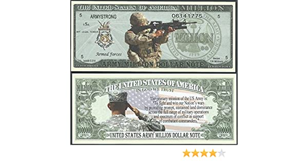 Lot of 500 BILLS US COAST GUARD MISSION MILLION DOLLAR BILL