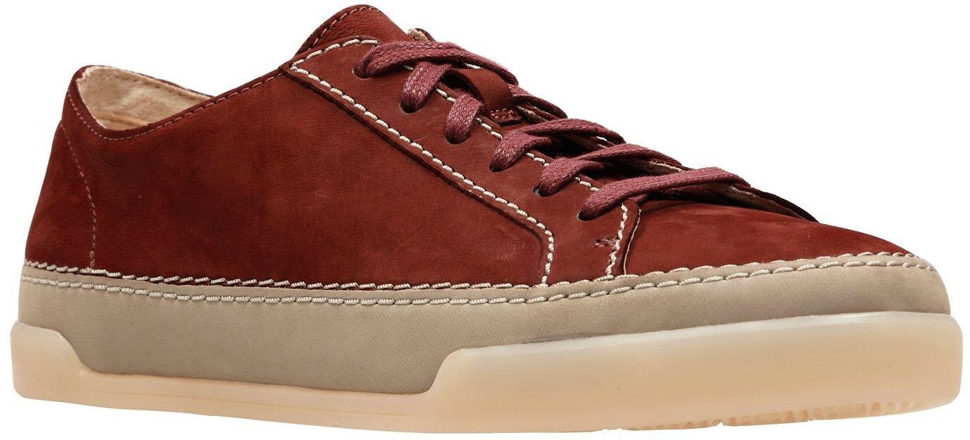 CLARKS Women's Hidi Holly Sneaker B0776774CL 7.5 B(M) US|Rust Nubuck