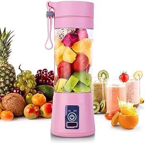 Slow Juicer Portable Blender Electric Lemon Orange Juicer 380ml 6/4/2 Blades USB Rechargeable Smoothie Blender Machine Food Mixe