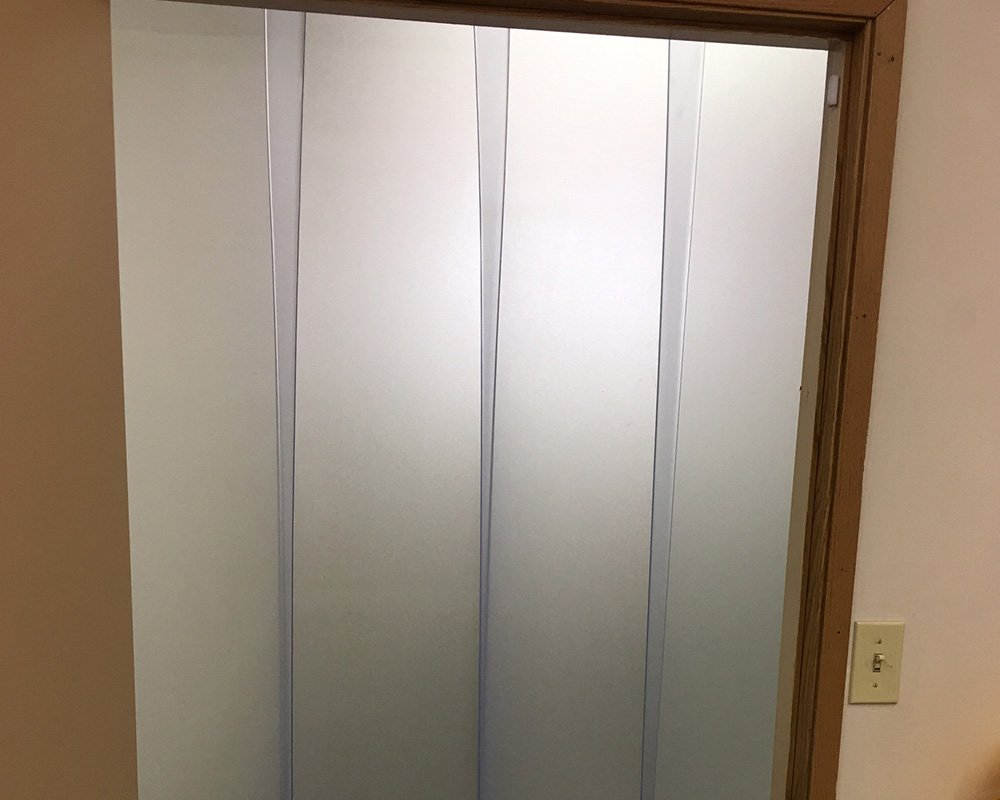 6 ft Width X 72 in. Height 120 in. 10 ft Frosted Glazed 8 in Stainless Steel Hardware Strip-Curtains.com: Strip Door Curtain Strips with 50/% Overlap
