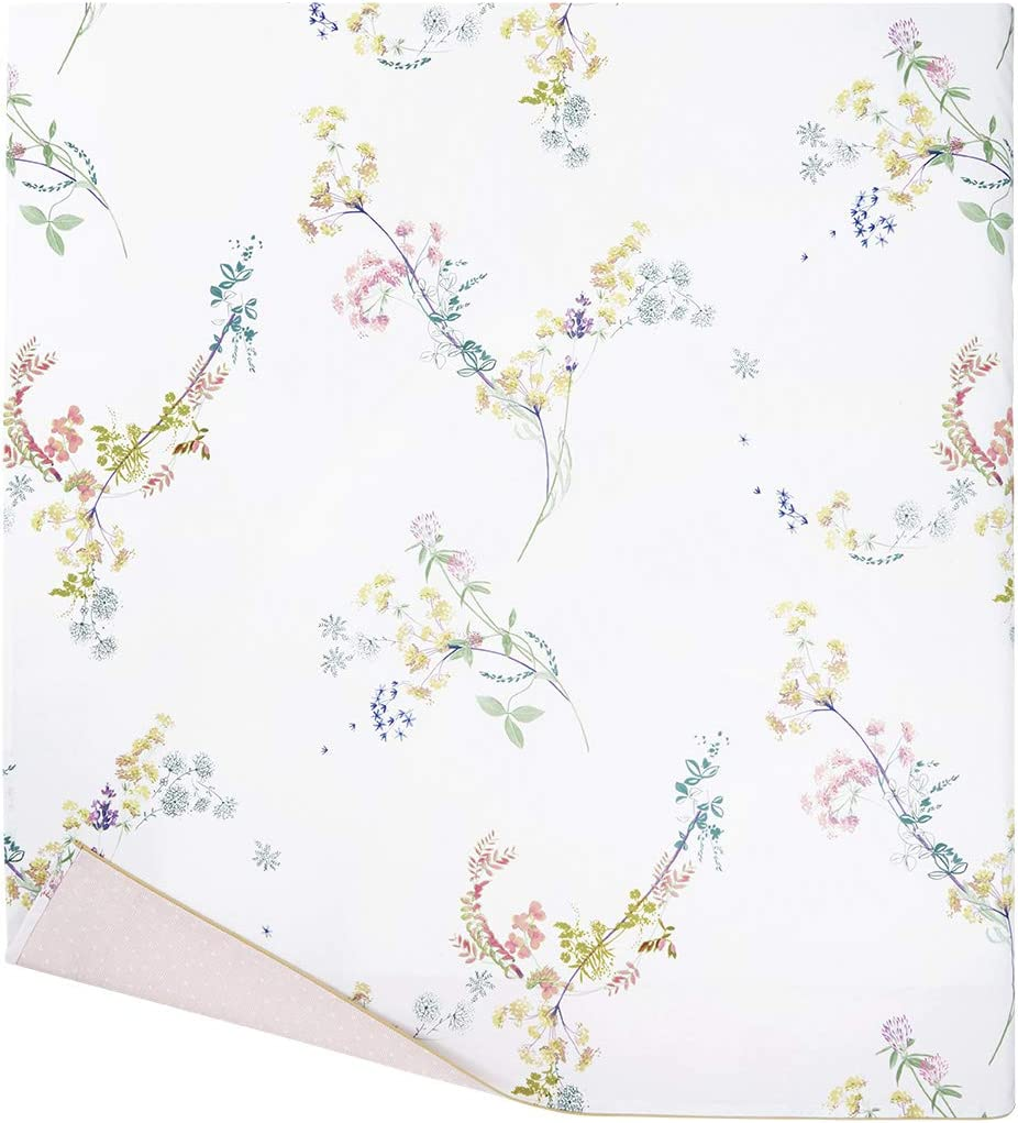 Luxury Flat Sheet from France. Herba Floral Twin Flat Sheet Yves Delorme