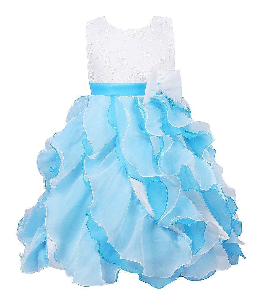JerrisApparel Bambini del Vestito Principessa Festa in Costume Vestito a Strati Ragazza Formale