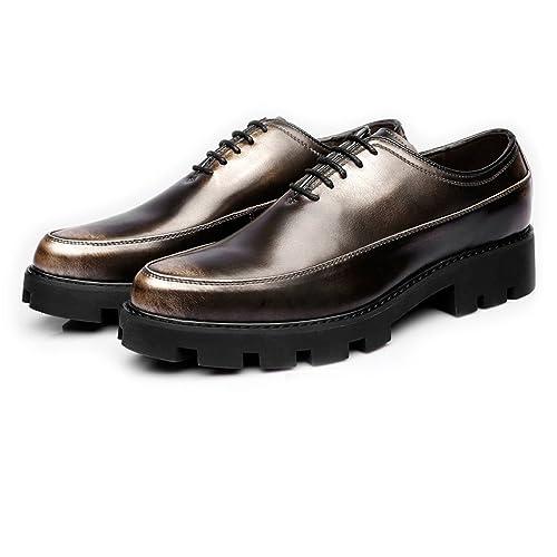 Sunny&Baby Chaussures en Cuir PU Hommes Lacent jusqu'aux Richelieus Doublés D'Affaires Respirant (Mocassins en Option) Résistant à L'Abrasion (Color : Loafer BLK, Taille : 37 EU)