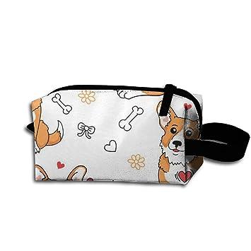 Amazon.com: styh encantador Corgi perro bolsa de cosméticos ...