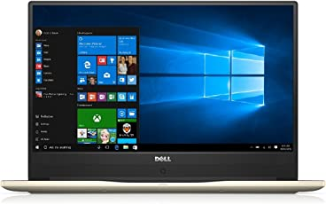 "Dell Inspiron I7472_i7161TGDW10s_218 Laptop 14"" FHD, Intel Core i7 4GHz, 16GB RAM, 1TB HDD + 128GB SSD, NVIDIA GeForce MX150, Windows 10, Color Dorado"