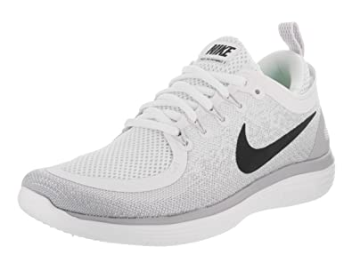 pretty nice 47e08 1a3a4 Nike Womens Free Rn Distance 2 White/Black/Pure Platinum Running Shoe 6  Women US