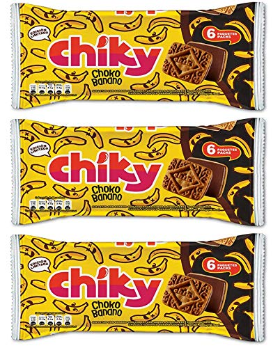 (Pozuelo Chiky 16.9oz Cream Covered Cookies From Costa Rica (Pack of 3) (Chocobanano))