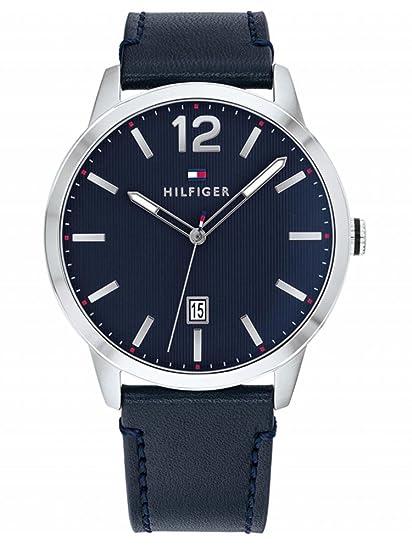Tommy Hilfiger Reloj Analógico para Hombre de Cuarzo con Correa en Cuero  1791496  Amazon.es  Relojes 9c2a62d5b7a2