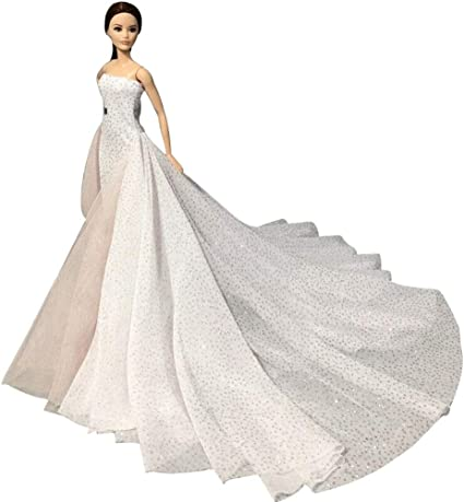 Fashion Royalty White  Wedding Dress Gown Clothes For 11.5 inch Doll