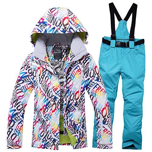 Jiakenvde Vent Ski Femmes Au Pour Set Veste Combinaison En 1 Et Air De Plein Imperméable 1TKculFJ3