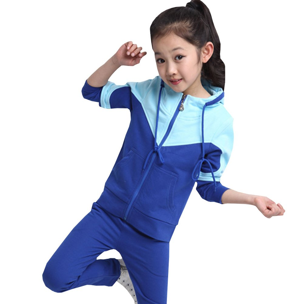 M&A Girls Tracksuit Hoodie Jacket and Pant Set