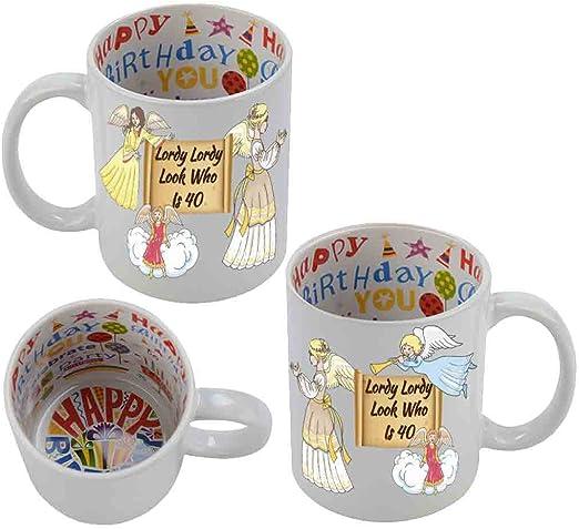 Amazon.com: 40th Feliz cumpleaños Taza festivo – Lordy ...