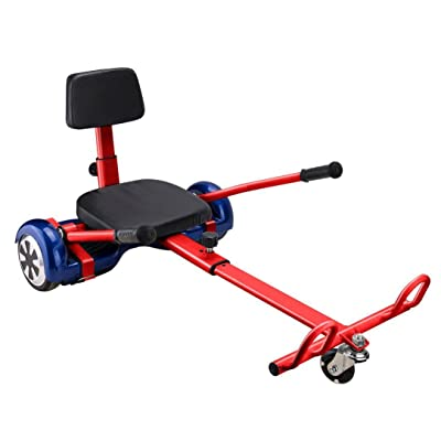 "Hoverboard Cart Hover Kart Go Cart For 6.5"" 8"" 10""Two Wheel Self Balancing Scooter, Transform your hoverboard Into A GoKart, Hover Kart Attachment To Ride Hoverboards Sitting Red : Sports & Outdoors"