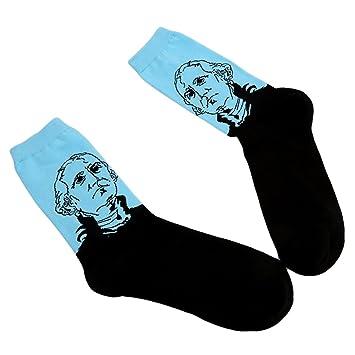 Vwh Unisex - Calcetines largos Retro calcetines graciosos para hombres mujeres niños azul: Amazon.es: Deportes y aire libre