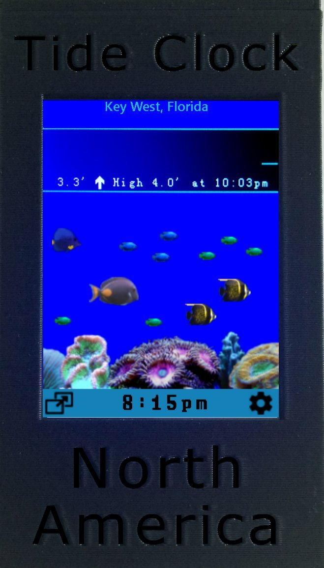 Amazon Wend Digital Tide Clock North America Pacificatlantic