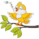 Decals Design 'Singing Bird Tweety' Wall Sticker (PVC Vinyl, 70 cm x 25 cm, Multicolour)