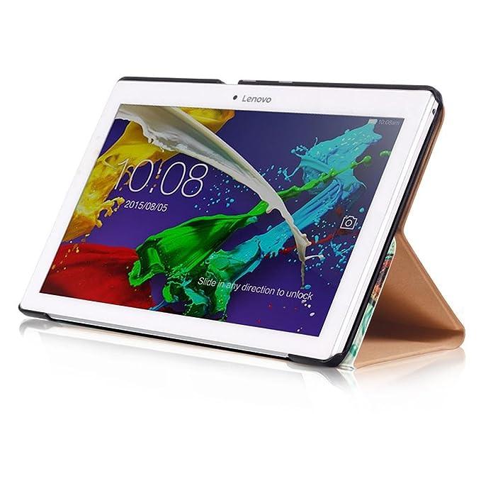 KATUMO Fundas Tablet Lenovo Tab 2 A10-30F/Tab 2 A10-70F/Tab 3 10 Plus/Tab3 10 Business, Carcasa Cuero para Lenovo Tab 2 A10-30F/A10-70 10,1 de Case ...