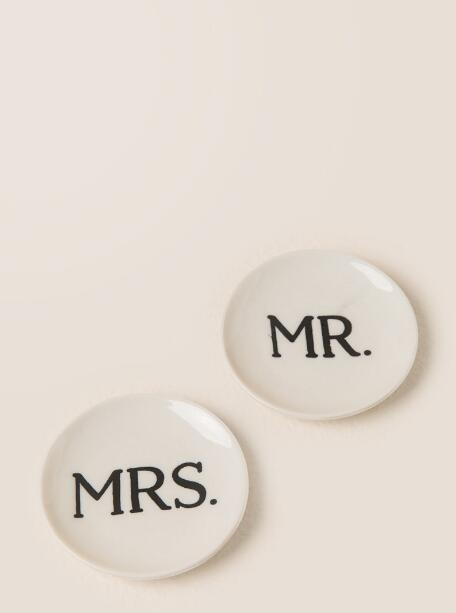 Mr. and Mrs. Round Boxed Trinket Dishes | francesca's