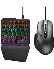 Delta essentials Jeux de FPS Ensemble de clavier et de souris pour PS4 / XBOX ONE / Nintendo Switch Support de Call of Duty Rainbow Six Siege