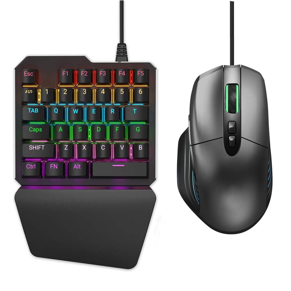 Delta essentials Keyboard and Mouse Combo Built in Adapter for PS4/Xbox  One/Nintendo Switch Support Rainbow Six Siege Apex Legends PUBG