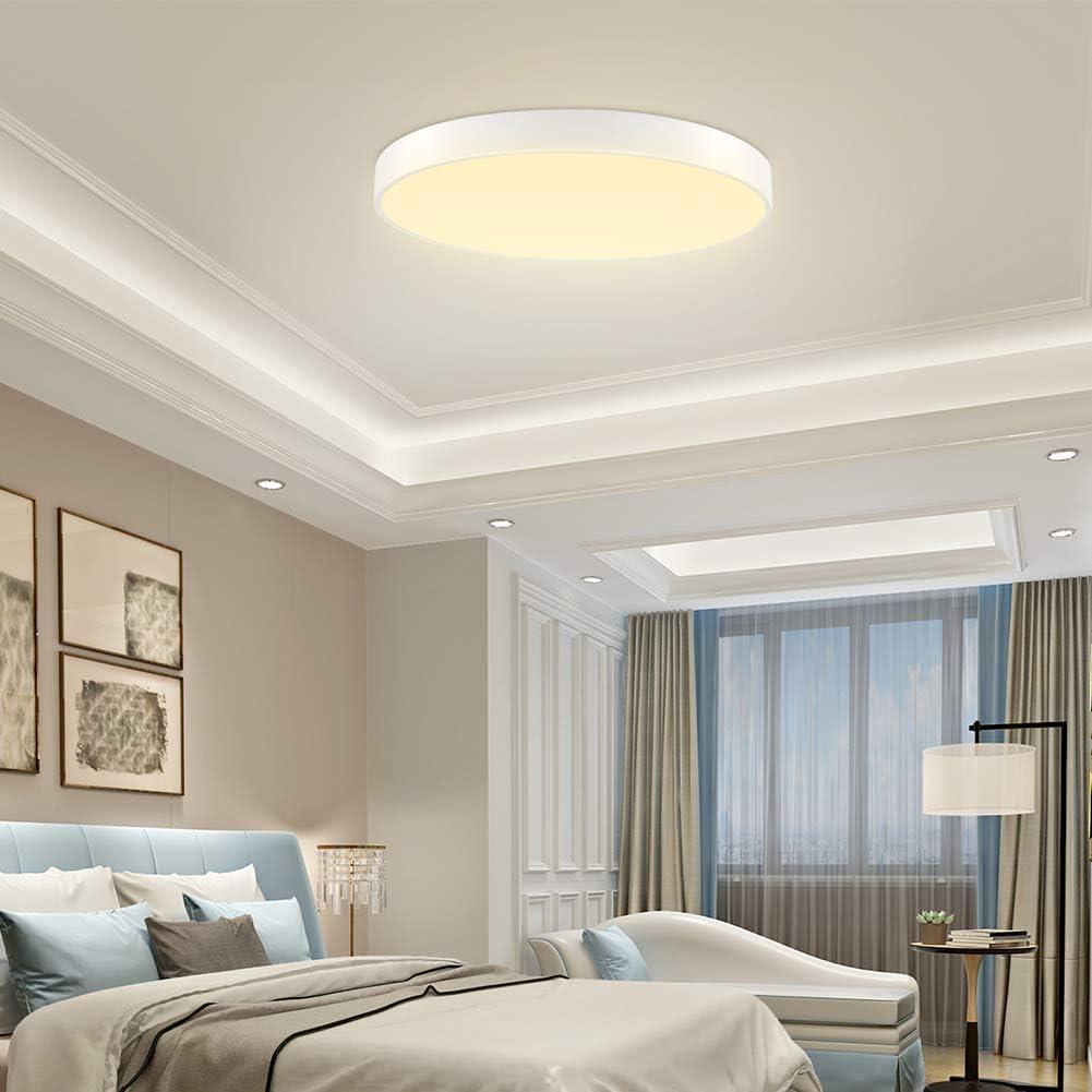 1 ST/ÜCK 24W LED Quadrat Deckenleuchte Dimmbar 3000-6000 K Einbauleuchten IP20 Wasserdicht 1440lm Helle Unterputz Deckenleuchten f/ür Wohnzimmer Schlafzimmer Bad Flur B/üro