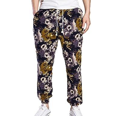 Pantalones De Harén De Floral Estampado Hombre con Pantalones ...