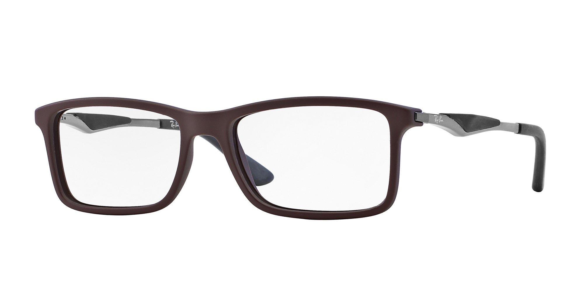 Ray-Ban Men's RX7023 Eyeglasses Top Brown On Matte Black 53mm