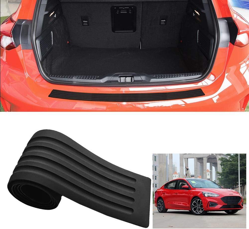 MARCHFA Car Bumper Protector Rubber Rear Bumper Guard Rear Bumper Cover Black Compatible for Focus 90CM