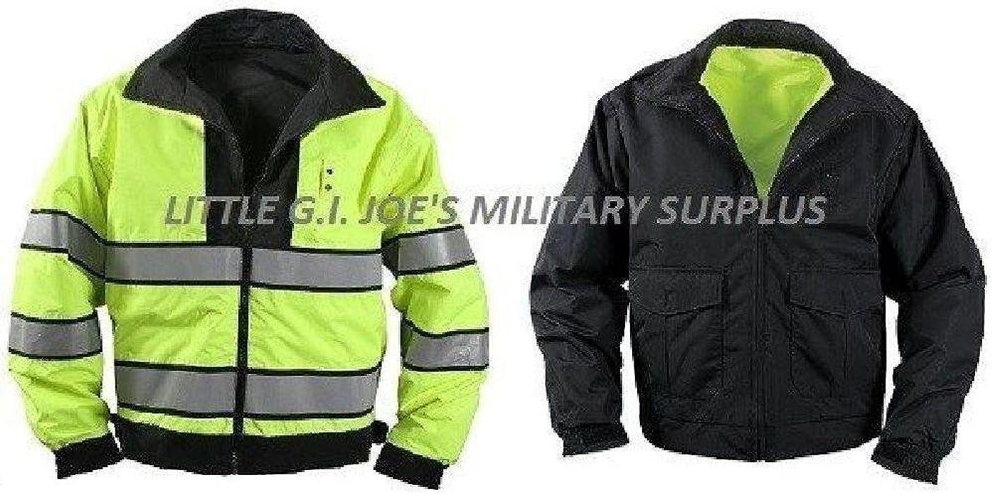 Small Black   Yellow Reversible Hi-Visibility Safety Waterproof Jacket 6710e1adae5