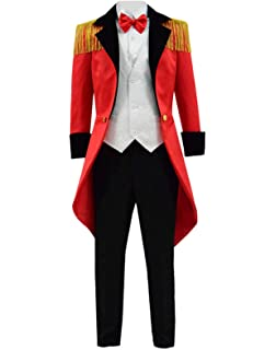 Amazoncom Greatest Pt Barnum Cosplay Costume Performance Uniform