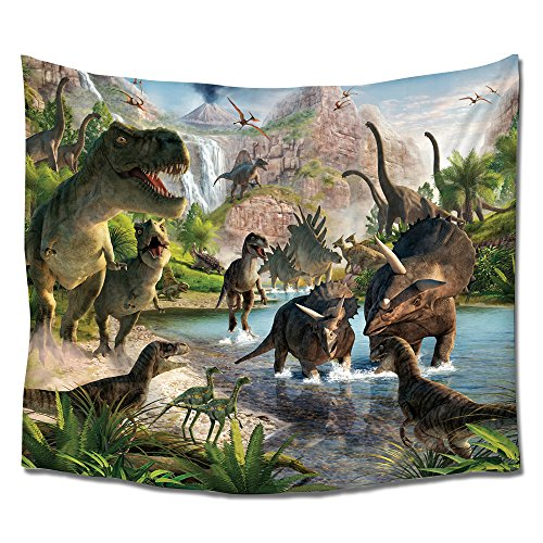 Wall Dinosaur Hangings - Vandarllin Dinosaurs Wall Art Tapestry Hangings- Thick Polyester Fabric for Home Bedroom Living Room Dorms Decor