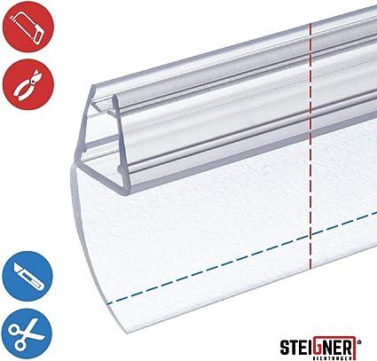 STEIGNER 200 cm Junta Repuesto Para el Vidrio 6mm/7mm/8mm Junta Vierteaguas de Ducha UK55 Protección Chorros Mamparas Ducha: Amazon.es: Bricolaje y herramientas