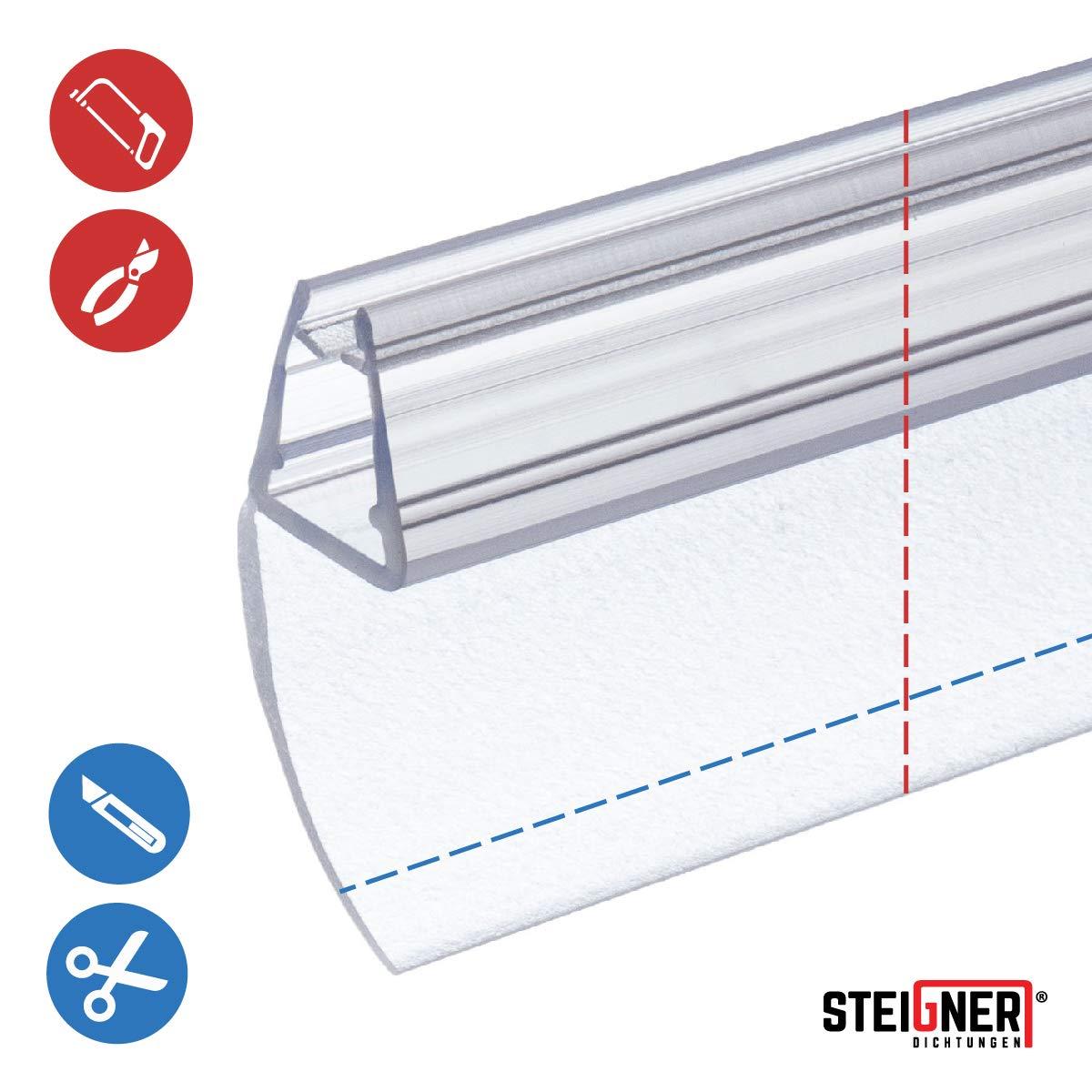 UK05 160cm Joint d/étanch/éit/é de rechange pour verre de douche d/épaisseur 6mm// 7mm// 8mm UPS DPD protection surtensions de cabine de douche